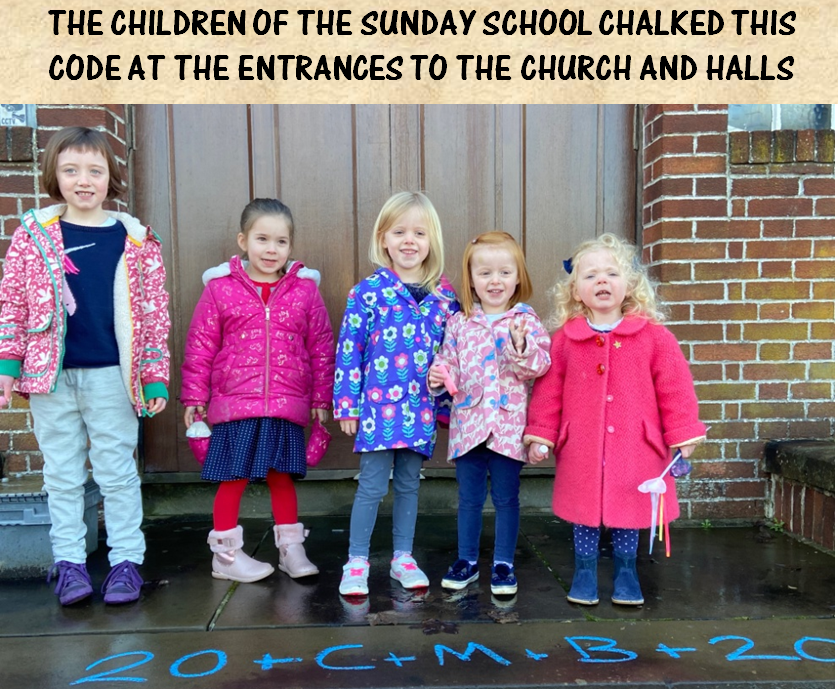 Sunday School with chalked code Two